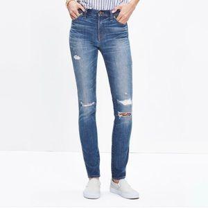 """MADEWELL 9"""" HIGH RISER RIP & REPAIR Skinny Jeans"""